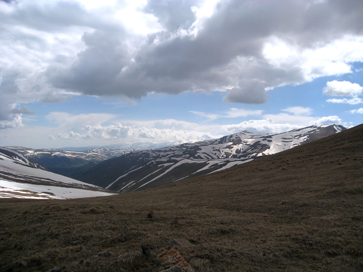 View from the pass toward Aragats Mt.
